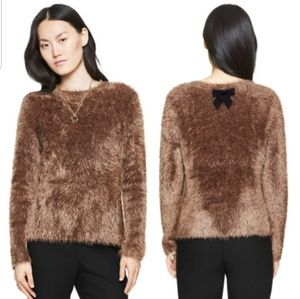Kate Spade Fuzzy Bow Sweater S